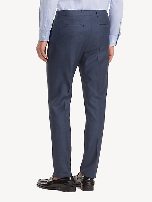 TOMMY HILFIGER Micro Pattern Suit Separate Trousers - DUTCH BLUE - TOMMY HILFIGER Formal Trousers - detail image 1