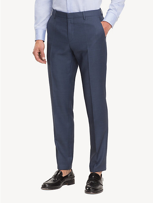 TOMMY HILFIGER Micro Pattern Suit Separate Trousers - DUTCH BLUE - TOMMY HILFIGER Formal Trousers - main image