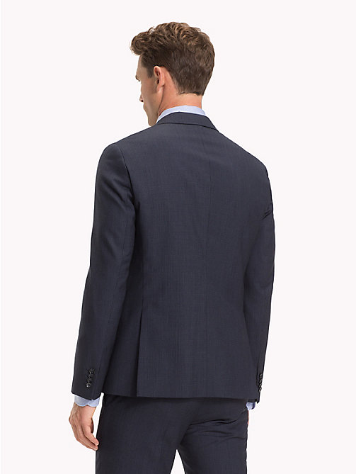 TOMMY HILFIGER Wool Gingham Blazer - NAVY BLAZER - TOMMY HILFIGER NEW IN - detail image 1