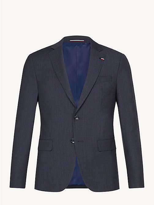 TOMMY HILFIGER Wool Gingham Blazer - NAVY BLAZER - TOMMY HILFIGER Something Special - detail image 1