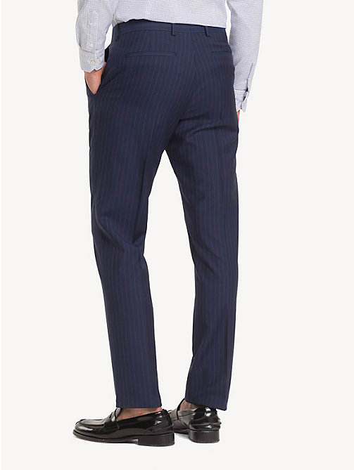 TOMMY HILFIGER Wool Stripe Suit Separate Trousers - TRUE NAVY - TOMMY HILFIGER Formal Trousers - detail image 1