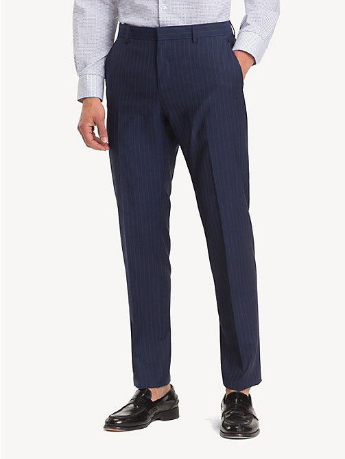 TOMMY HILFIGER Wool Stripe Suit Separate Trousers - TRUE NAVY - TOMMY HILFIGER Formal Trousers - main image