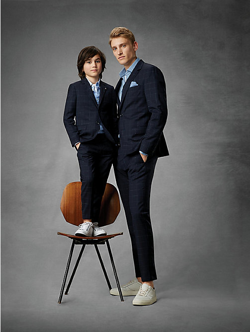 TOMMY HILFIGER Blazer à grands carreaux - MIDNIGHT BLUE - TOMMY HILFIGER Costumes & Tailored - image détaillée 1