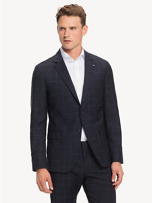 TOMMY HILFIGER Windowpane Check Blazer - MIDNIGHT BLUE - TOMMY HILFIGER Blazers - main image
