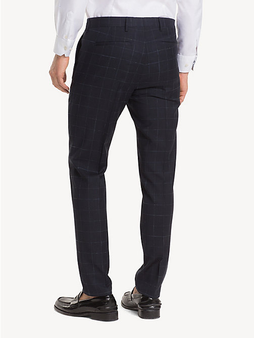 TOMMY HILFIGER Windowpane Check Suit Separate Trousers - MIDNIGHT BLUE - TOMMY HILFIGER NEW IN - detail image 1