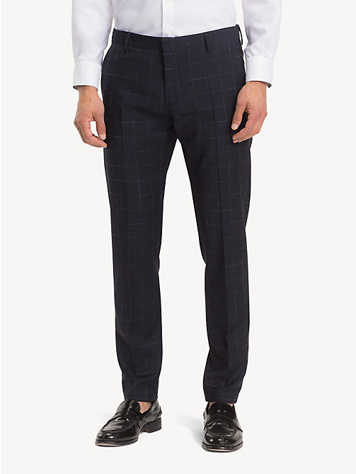 TOMMY HILFIGER Windowpane Check Suit Separate Trousers - MIDNIGHT BLUE - TOMMY HILFIGER Formal Trousers - main image