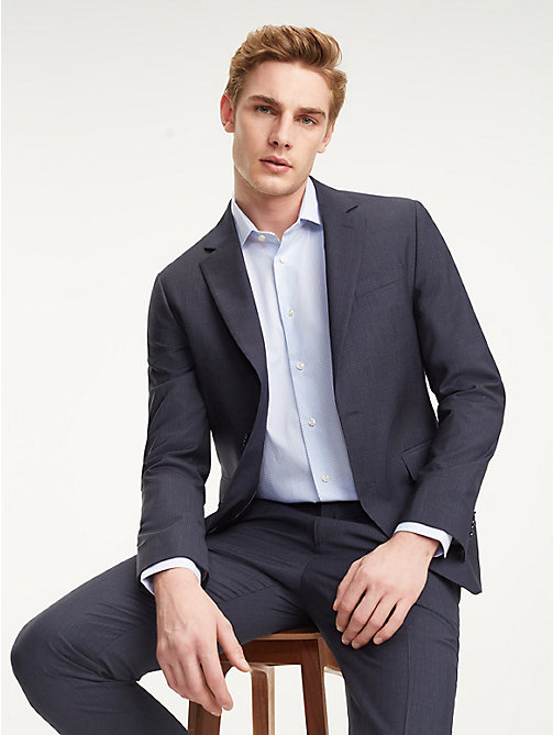 TOMMY HILFIGER Suit Separate Micro Check Blazer - NAVY BLAZER - TOMMY HILFIGER Blazers - main image