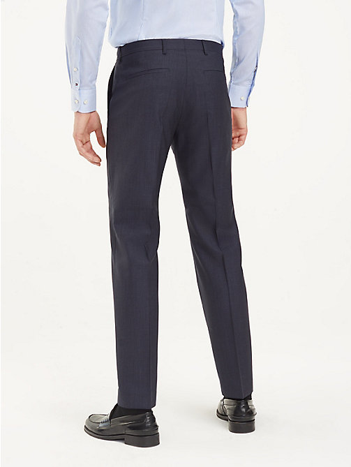 TOMMY HILFIGER Micro Check Suit Separate Trousers - NAVY BLAZER - TOMMY HILFIGER Formal Trousers - detail image 1