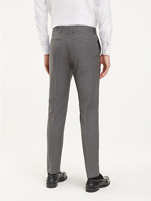 TOMMY HILFIGER Pinstripe Suit Separate Trousers - GUN METAL - TOMMY HILFIGER Formal Trousers - detail image 1