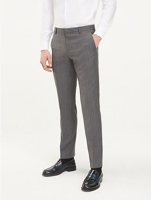 TOMMY HILFIGER Pinstripe Suit Separate Trousers - GUN METAL - TOMMY HILFIGER Formal Trousers - main image
