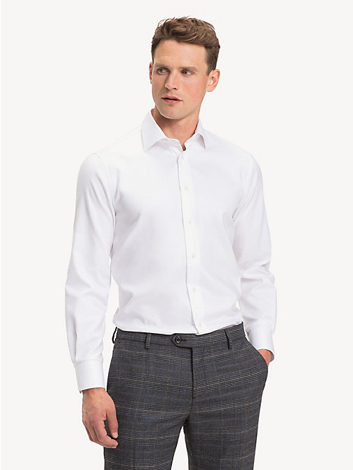 TOMMY HILFIGER TH Flex Collar Regular Fit Shirt - WHITE - TOMMY HILFIGER Something Special - detail image 1