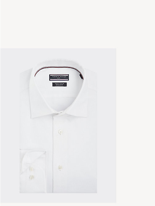 TOMMY HILFIGER TH Flex Collar Regular Fit Shirt - WHITE - TOMMY HILFIGER Something Special - main image