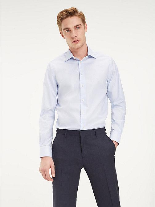 ... TOMMY HILFIGER Gemustertes Hemd mit TH Flex-Kragen - HEATHER BLUE - TOMMY  HILFIGER Businesshemden 8fe6c637a3