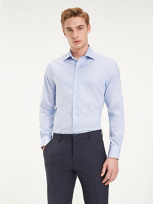 TOMMY HILFIGER TH Flex Collar Stripe Shirt - PASTEL BLUE - TOMMY HILFIGER Formal Shirts - detail image 1
