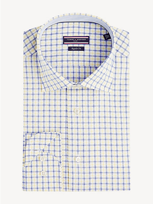 TOMMY HILFIGER Gingham Check Shirt - YELLOW - TOMMY HILFIGER Formal Shirts - main image