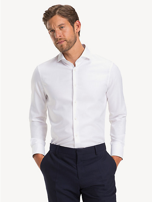 TOMMY HILFIGER Wide-Spread Collar Oxford Shirt - WHITE - TOMMY HILFIGER NEW IN - detail image 1