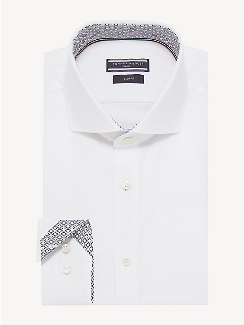 TOMMY HILFIGER Wide-Spread Collar Oxford Shirt - WHITE - TOMMY HILFIGER NEW IN - main image