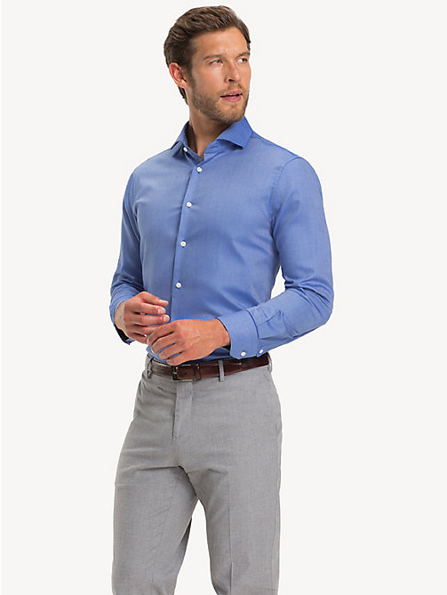 TOMMY HILFIGER Camicia Oxford con colletto alla francese - MOONLIGHT BLUE - TOMMY HILFIGER Camicie Eleganti - dettaglio immagine 1