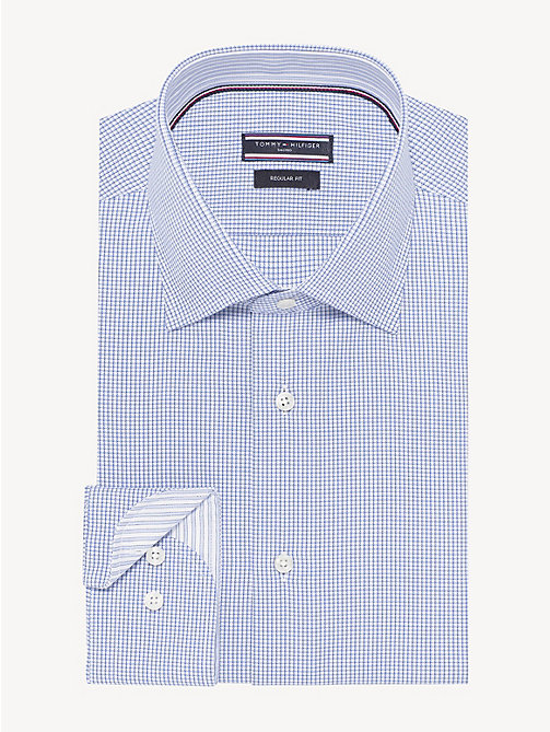 TOMMY HILFIGER Houndstooth Classic Shirt - MOONLIGHT BLUE - TOMMY HILFIGER Formal Shirts - main image