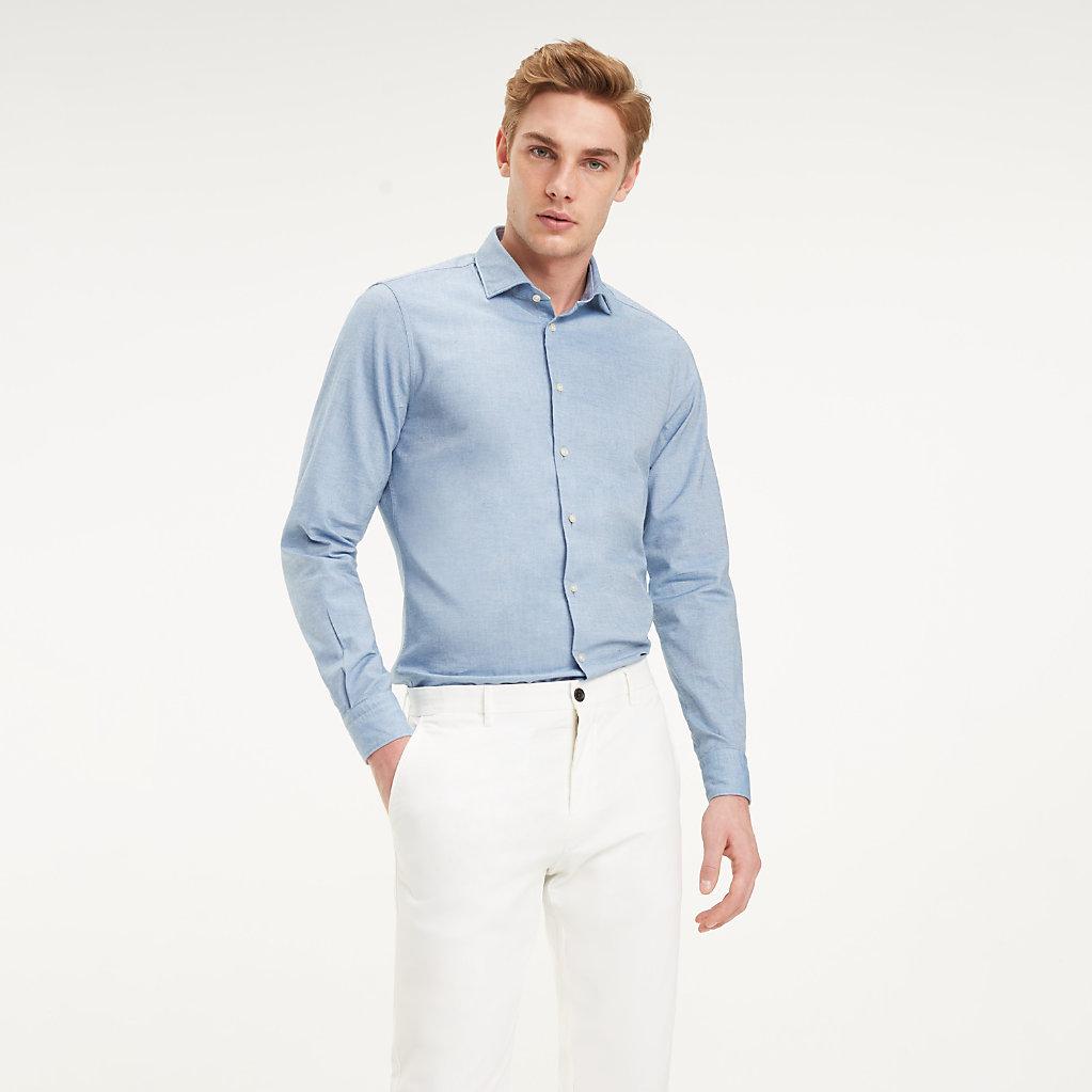 Tommy Hilfiger - Camisa clásica de algodón lavado - 2