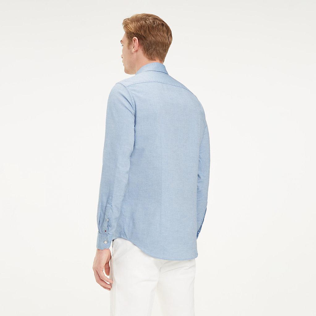 Tommy Hilfiger - Klassisches Hemd aus gewaschener Baumwolle - 3