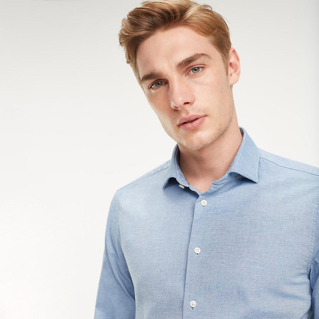 Tommy Hilfiger - Klassisches Hemd aus gewaschener Baumwolle - 4