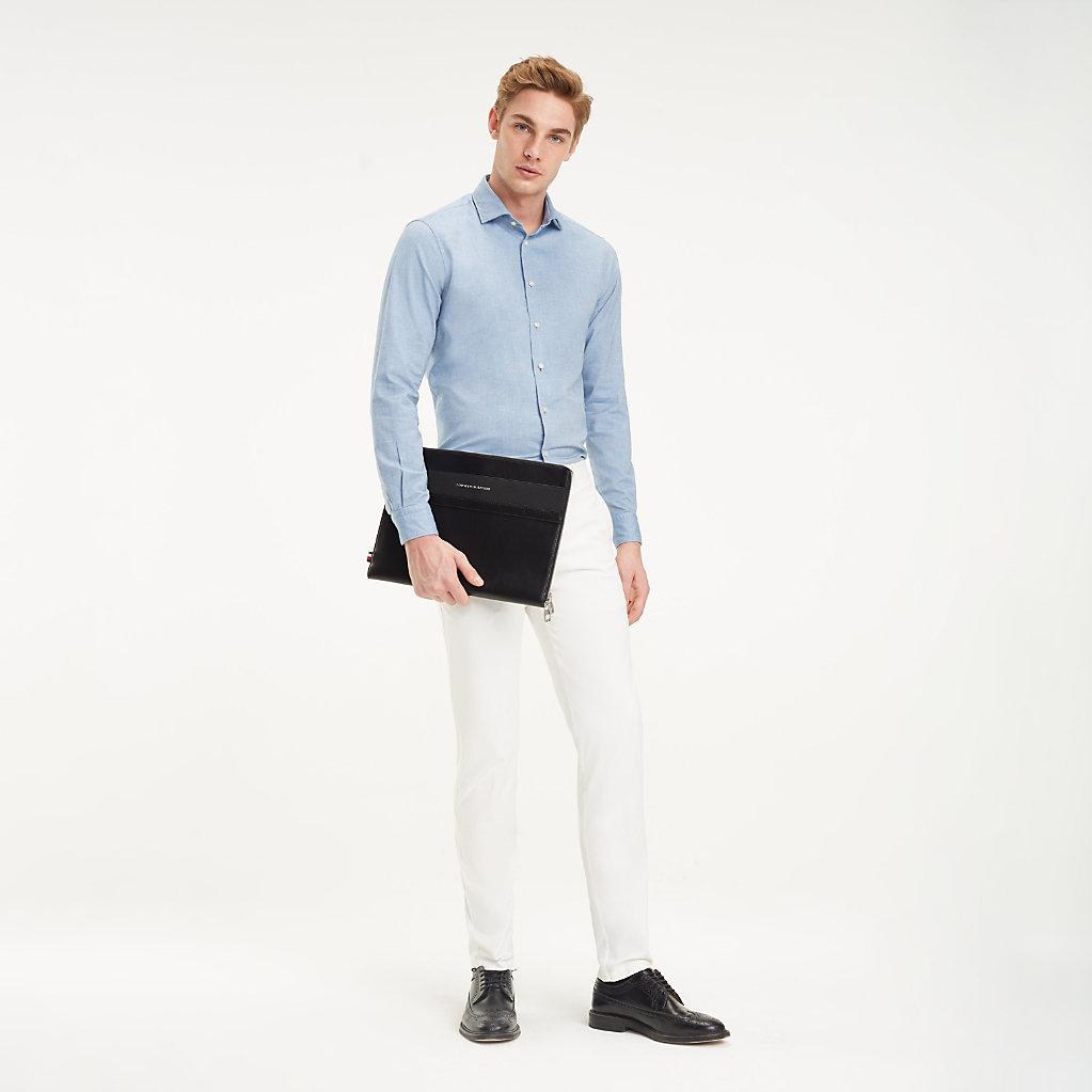Tommy Hilfiger - Camisa clásica de algodón lavado - 5