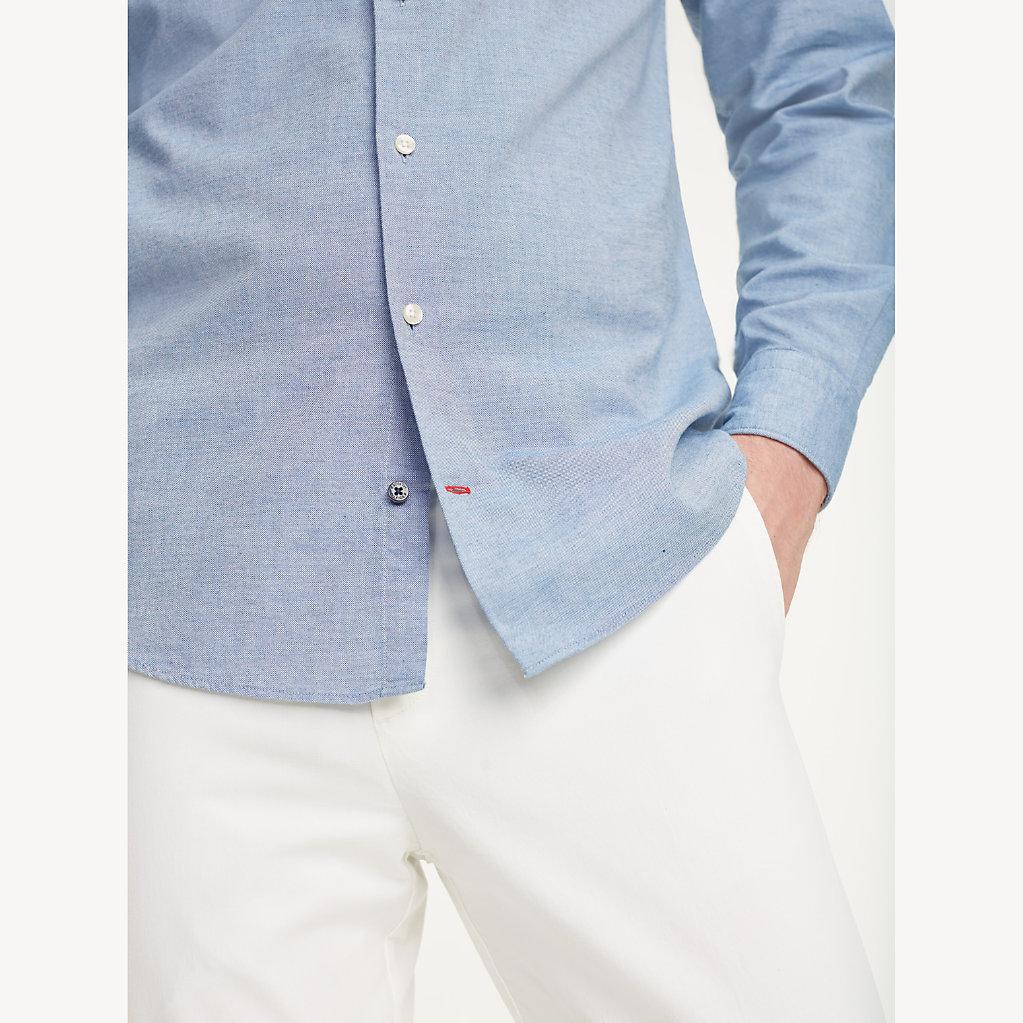 Tommy Hilfiger - Klassisches Hemd aus gewaschener Baumwolle - 6