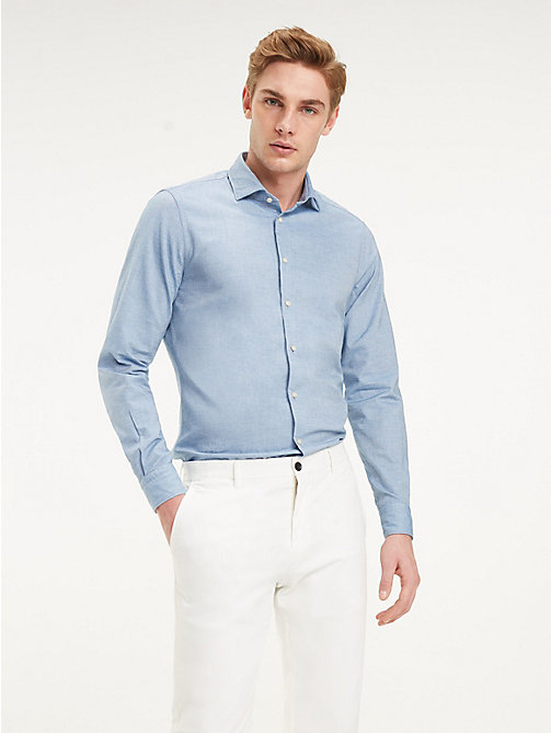 TOMMY HILFIGER Washed Cotton Classic Shirt - DUTCH BLUE - TOMMY HILFIGER Formal Shirts - detail image 1