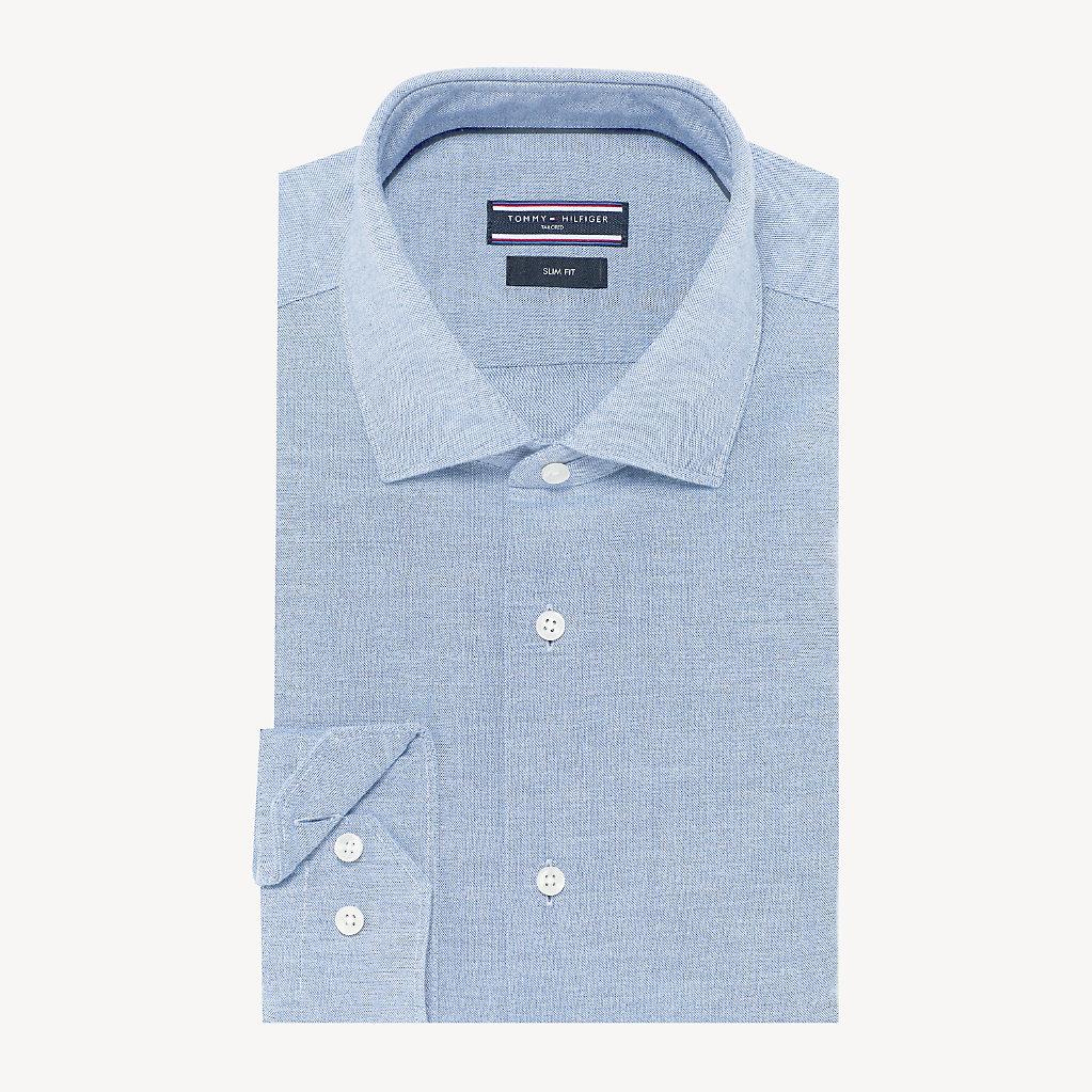 Tommy Hilfiger - Camisa clásica de algodón lavado - 1