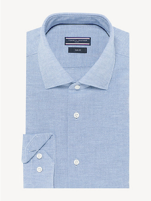 TOMMY HILFIGER Washed Cotton Classic Shirt - DUTCH BLUE - TOMMY HILFIGER Formal Shirts - main image