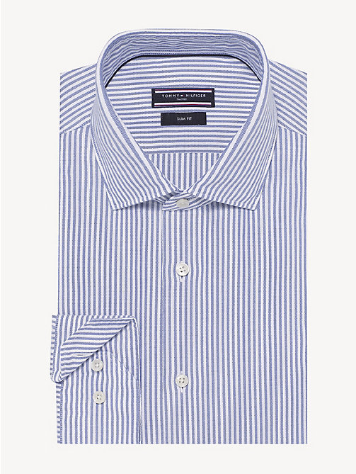 TOMMY HILFIGER Washed Cotton Stripe Shirt - DUTCH BLUE - TOMMY HILFIGER NEW IN - main image