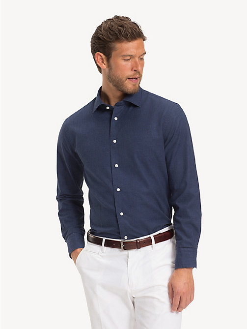TOMMY HILFIGER Pure Cotton Classic Shirt - MEDIVAL BLUE - TOMMY HILFIGER Formal Shirts - detail image 1