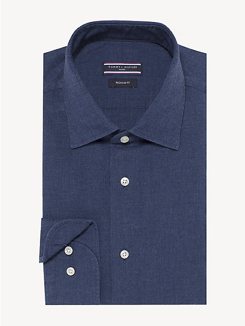 TOMMY HILFIGER Pure Cotton Classic Shirt - MEDIVAL BLUE - TOMMY HILFIGER Formal Shirts - main image