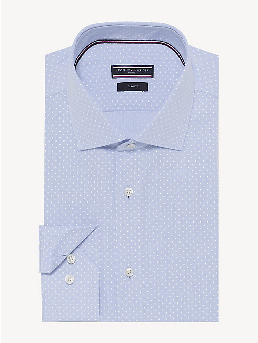 TOMMY HILFIGER Polka Dot Slim Fit Shirt - DARK LAVENDER - TOMMY HILFIGER Formal Shirts - main image