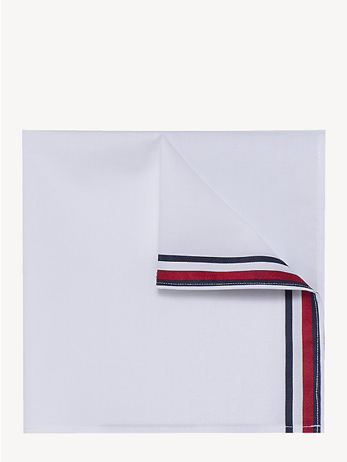 TOMMY HILFIGER Pure Cotton Signature Pocket Square - WHITE - TOMMY HILFIGER Ties & Pocket Squares - main image