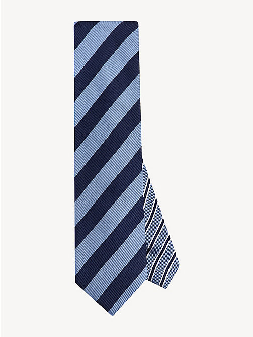 TOMMY HILFIGER Club Stripe Silk Tie - DARK LAVENDER - TOMMY HILFIGER Ties & Pocket Squares - main image