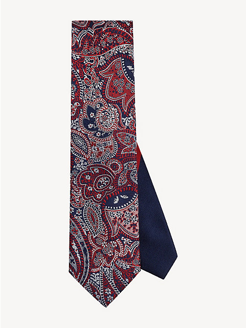 TOMMY HILFIGER Pure Silk Paisley Tie - RED - TOMMY HILFIGER Ties & Pocket Squares - main image