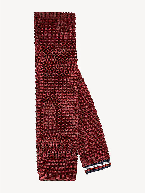 TOMMY HILFIGER Pure Silk Knitted Tie - RED - TOMMY HILFIGER Ties & Pocket Squares - main image