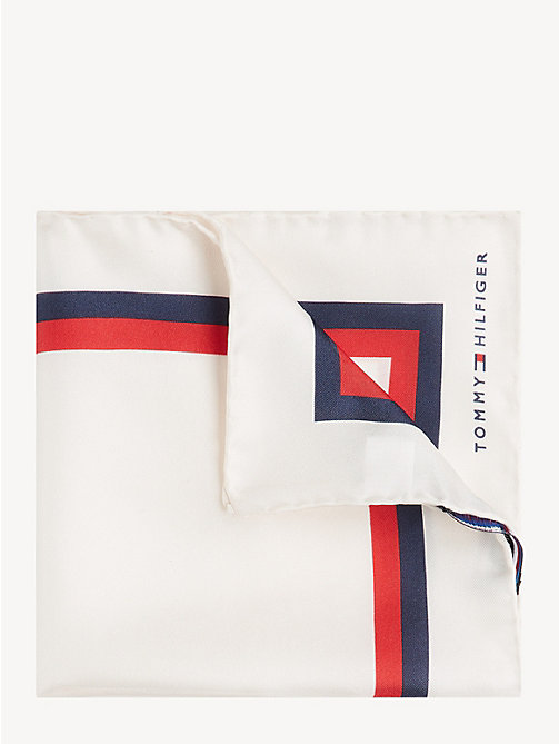 TOMMY HILFIGER Silk Signature Pocket Square - WHITE - TOMMY HILFIGER Ties & Pocket Squares - main image