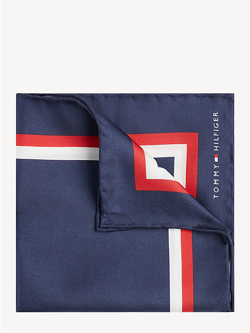 TOMMY HILFIGER Silk Signature Pocket Square - NAVY - TOMMY HILFIGER Ties & Pocket Squares - main image