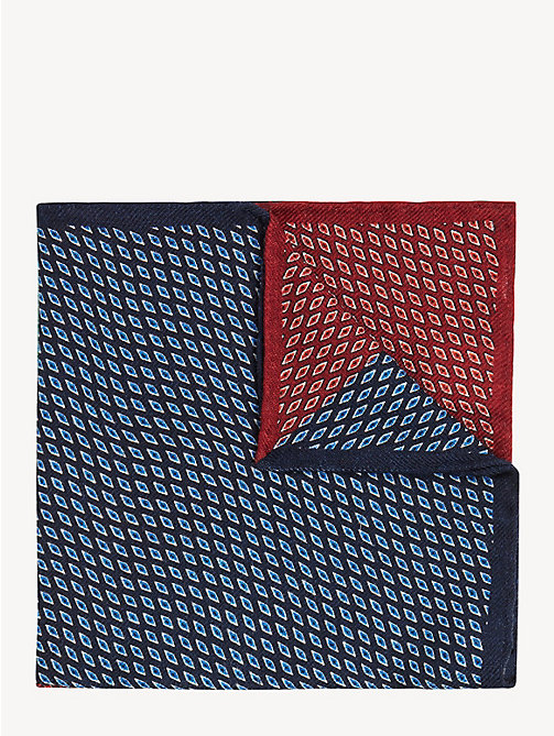 TOMMY HILFIGER Abstract Print Pocket Square - RED - TOMMY HILFIGER Ties & Pocket Squares - main image