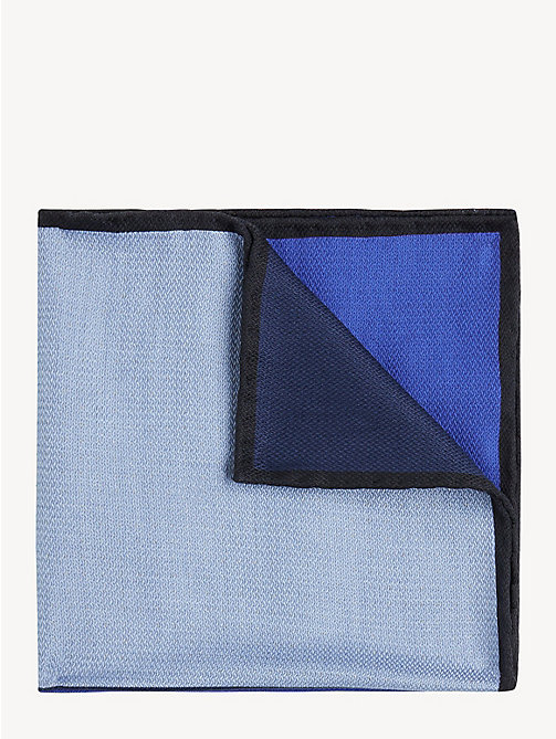 TOMMY HILFIGER Silk Colour-Blocked Pocket Square - NAVY - TOMMY HILFIGER Ties & Pocket Squares - main image