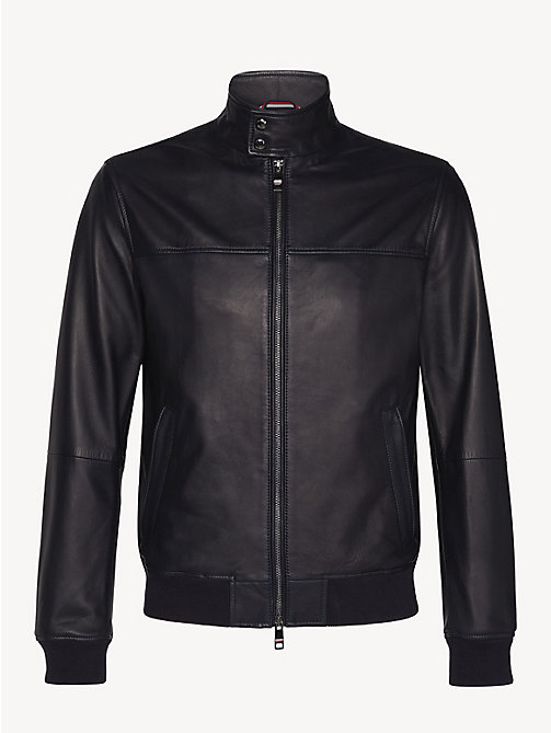 TOMMY HILFIGER Leather Collar Jacket - SKY CAPTAIN - TOMMY HILFIGER NEW IN - detail image 1