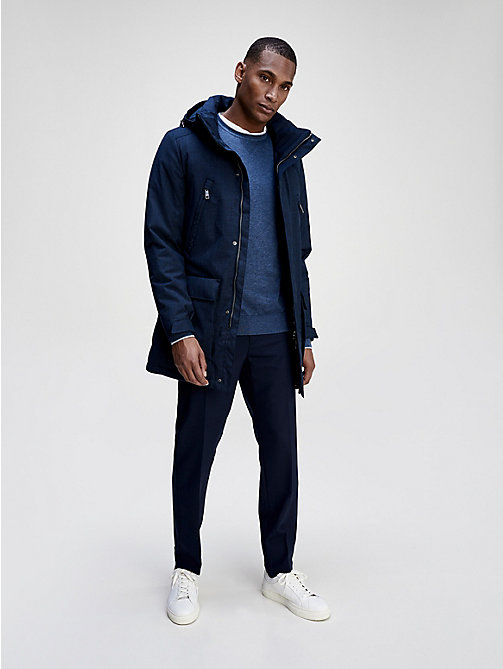 TOMMY HILFIGER Technical Wool Down Parka - SKY CAPTAIN - TOMMY HILFIGER Tailored - main image
