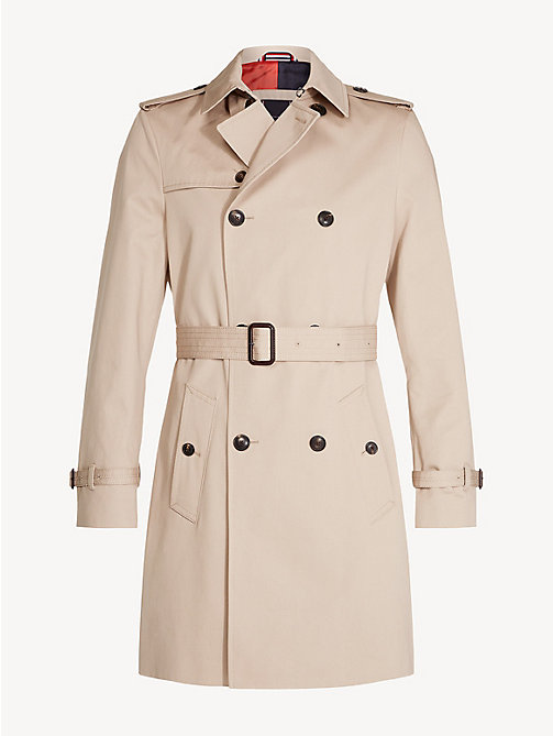 TOMMY HILFIGER Pure Cotton Trench Coat - CAMEL - TOMMY HILFIGER NEW IN - detail image 1