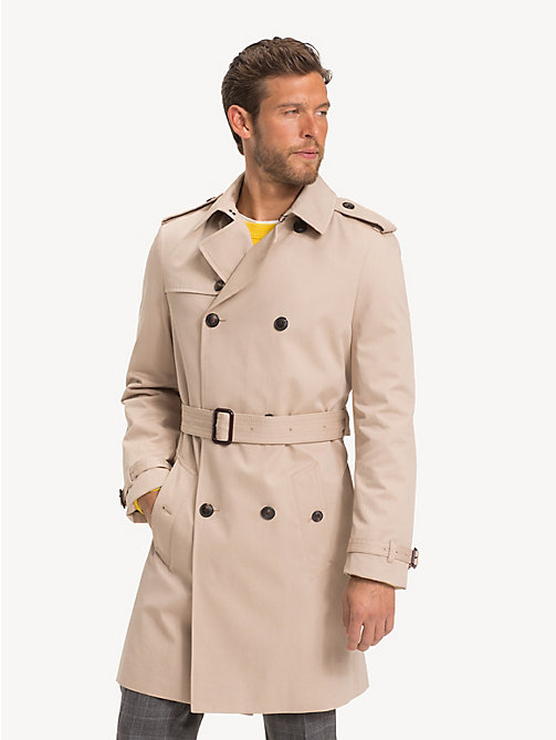 TOMMY HILFIGER Pure Cotton Trench Coat - CAMEL - TOMMY HILFIGER NEW IN - main image