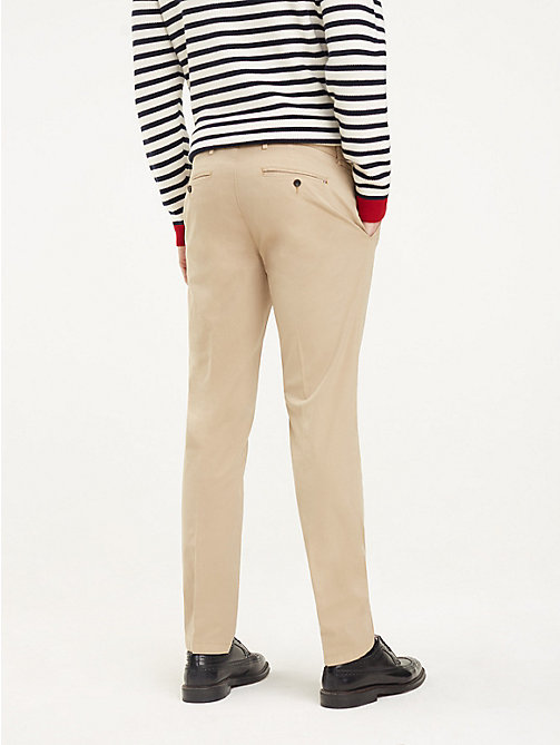 TOMMY HILFIGER TH Flex Cotton Trousers - BEIGE - TOMMY HILFIGER Formal Trousers - detail image 1
