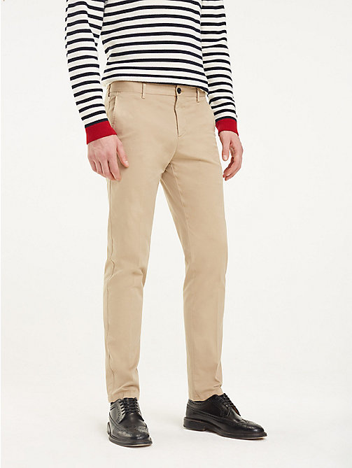 TOMMY HILFIGER TH Flex Cotton Trousers - BEIGE - TOMMY HILFIGER Formal Trousers - main image