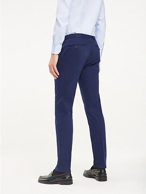 TOMMY HILFIGER TH Flex Cotton Trousers - SKY CAPTAIN - TOMMY HILFIGER Formal Trousers - detail image 1